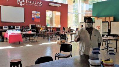 Universitarios entregaron 500 protectores fabricados con impresión 3D