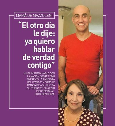 """Mamá de Mazzoleni: """"El otro día le dije: ya quiero hablar de verdad contigo"""""""