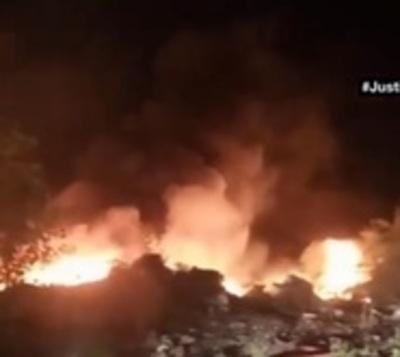 Bañado Sur: Incendio en basural pone en riesgo a cientos de hogares