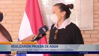 DAN A CONOCER RESULTADOS DE PRUEBA DE AGUA HECHA EN LA CUENCA DEL LAGO YPACARAÍ