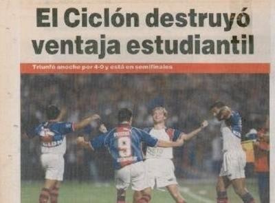HOY / La espectacular remontada del Ciclón en el 99