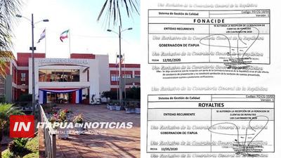 GOBERNACIÓN ANTICIPA RENDICIÓN DE FONACIDE Y ROYALTIES