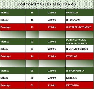 Embajada de México invita al ciclo de cortometrajes por Paraguay TV