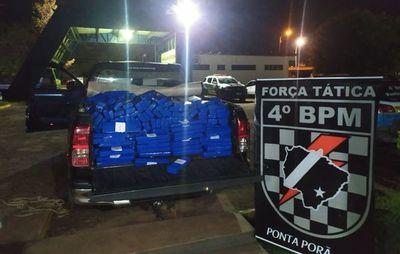 Vehículo con placa paraguaya llevaba 523 kilos de cocaína