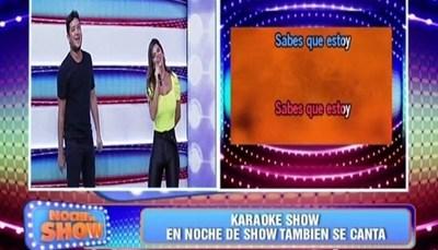 """Junior y Simone Villar cantaron juntos en """"Noche de Show"""""""