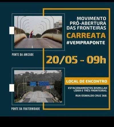 BRASILEÑOS QUIEREN FORZAR APERTURA DE FRONTERAS