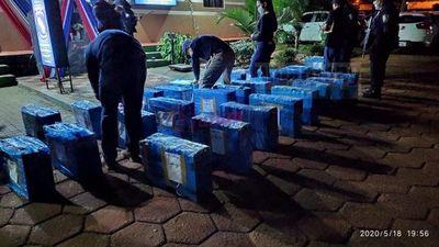 Incautan camioneta con supuesta marihuana tras persecución en Amambay