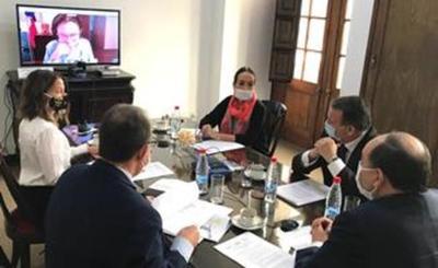 Gobierno y embajadores de la UE, abordaron soluciones humanitarias al coronavirus