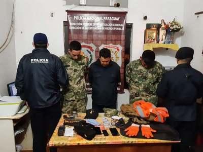 CANINDEYU: MILITARES ENTRE LOS CAPTURADOS EN ASALTO A CAMIÓN SOJERO.
