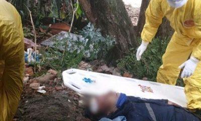 Hombre cae desde un árbol y sufrió lesiones