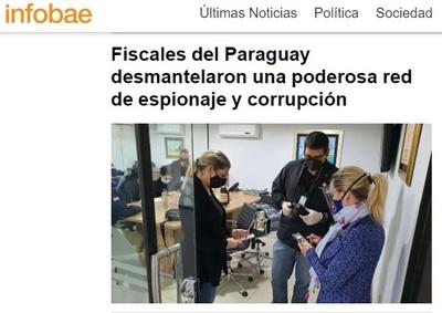 Diario argentino vincula a Efraín Alegre con actos de espionaje político