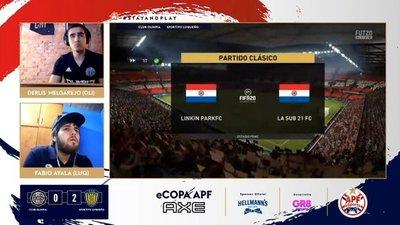"""APF eSports: Con """"Gol de oro"""", Luque eliminó a Olimpia y se instaló en semifinales"""