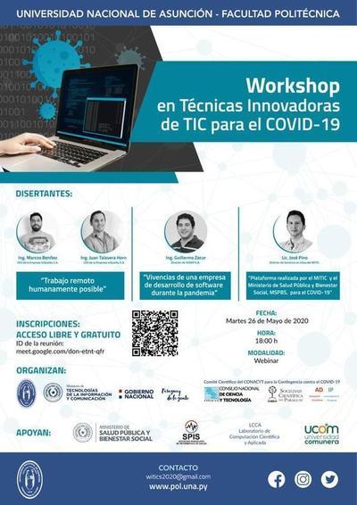 Workshop en Técnicas Innovadoras de TIC para el COVID-19