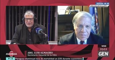 Secretario de la OEA plantea que proceso de democratización ya no puede demorar en Venezuela