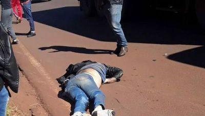 Fatal accidente segó la vida de un motociclista sobre la ruta PY5