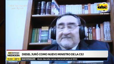 Diesel juró como nuevo ministro de la Corte Suprema de Justicia