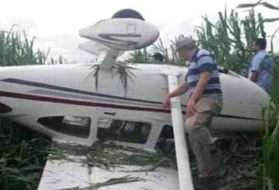 Avioneta aterrizó de emergencia en Campo 9