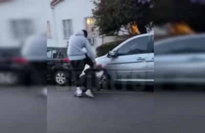 La brutal golpiza de un jugador de la NBA a un hombre que atacó su automóvil en las protestas por George Floyd