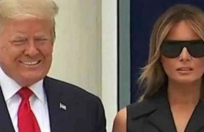 Donald Trump le pide a Melania que sonría durante una sesión de fotos y ella se niega