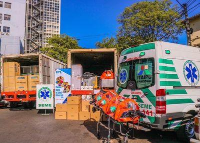 OPS entrega equipos de bioseguridad para traslado de pacientes