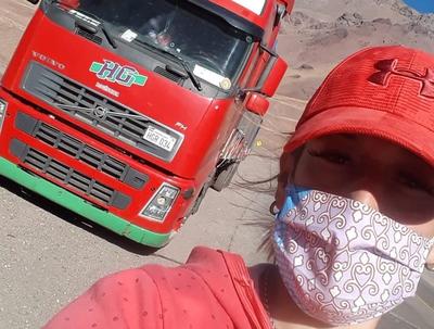"""No traemos el virus"", he´i una mamá camionera"