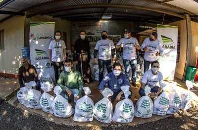 Grupo Sarabia llega con 89.848 kilos de alimentos para 4.084 familias rurales
