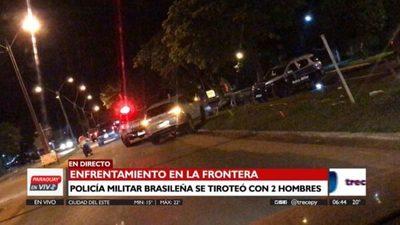 Detienen a dos paraguayos, tras tiroteo con policía militar brasileña