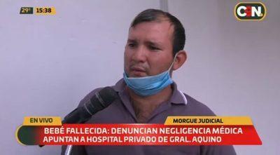 Familia denuncia negligencia en muerte de recién nacida