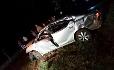 Joven muere tras chocar contra un árbol y volcar en la Ruta PY 02