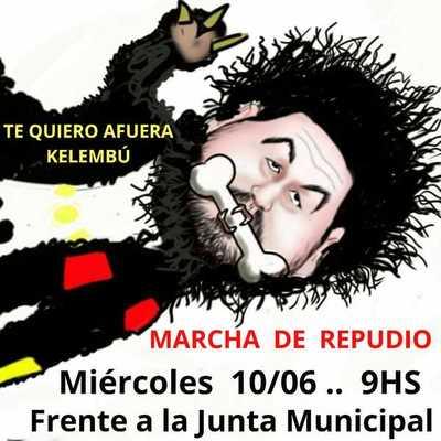 """Manifestación frente a la JM en repudio a """"Kelembú"""""""