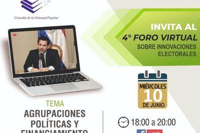 Justicia Electoral capacitará, hoy vía on line, sobre Agrupaciones Políticas y Financiamiento Político