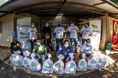 Grupo Sarabia llega con 112.000 kilos de alimentos a 4.084 familias rurales