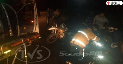 Choque frontal de dos motocicletas, deja una víctima fatal y un herido