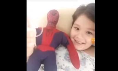 """Lucas, el niño que fue """"baleado"""" cumplió su sueño de conocer a 'Spiderman'"""