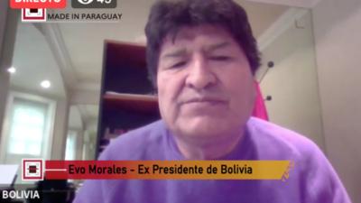 """Evo Morales: """"En complicidad la OEA y Estados Unidos nos roban el triunfo el año pasado"""""""