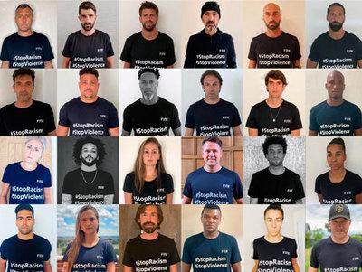 Futbolistas de renombre se unen contra el racismo y violencia