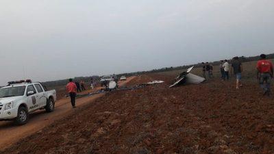Avioneta se incendia en un camino rural de San Cristóbal