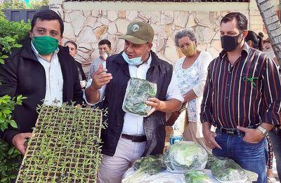 Preparan huertas para mitigar crisis económica