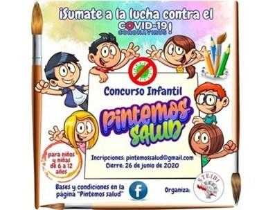 "Invitan a participar del primer concurso infantil de dibujo ""Pintemos Salud"""