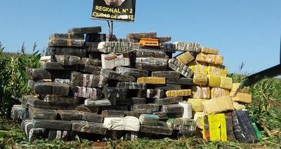 Incautan 3.429 kilos de marihuana en Puerto Indio