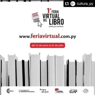 """Realizarán la primera """"Feria virtual del libro de Paraguay 2020"""" con ventas online y delivery a nivel nacional"""