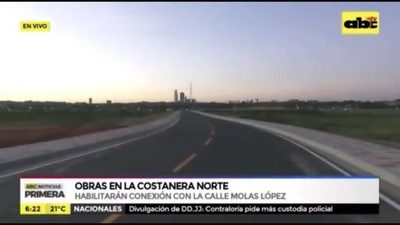 Habilitan conexión entre Molas López y la Costanera Norte en Asunción