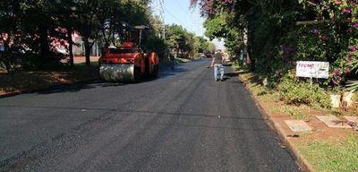 Pavimentan olvidada  avenida en Ciudad del Este