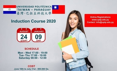 HOY / Habilitan inscripción al cursillo de inducción 2020 de la Universidad Politécnica Taiwán-Paraguay