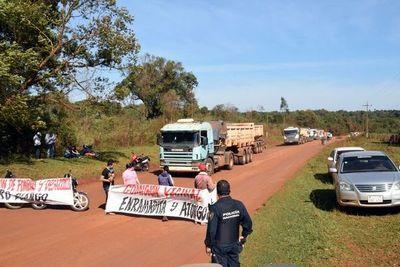Cierre de rutas para exigir celeridad en obras viales