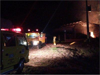 Incendio ocasiona pérdidas de 17 toneladas de yerba mate