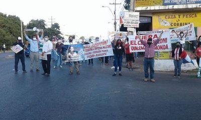 Ñemby: nueva manifestación contra intendente por supuesto desfalco de G. 3.000 millones
