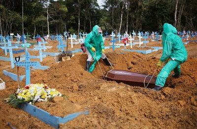 Números de muertos por COVID en Brasil equivalen a caídos en la guerra contra Paraguay en más de cinco años, según Folha