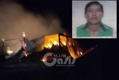 Capataz de establecimiento quemado hablo para el CNO