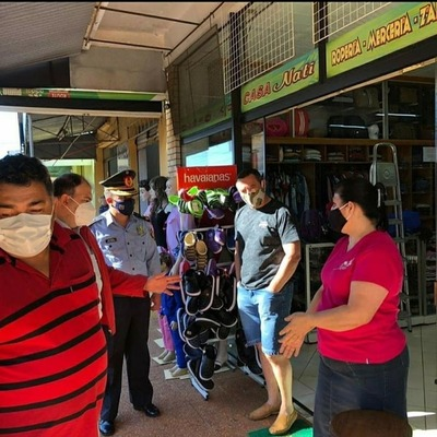 Policía Nacional se suma a tareas de prevención y control de medidas sanitarias en Juan Manuel Frutos